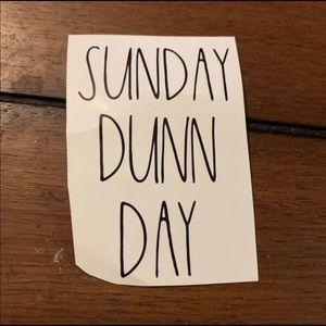 Rae Dunn decal sunday Dunn day